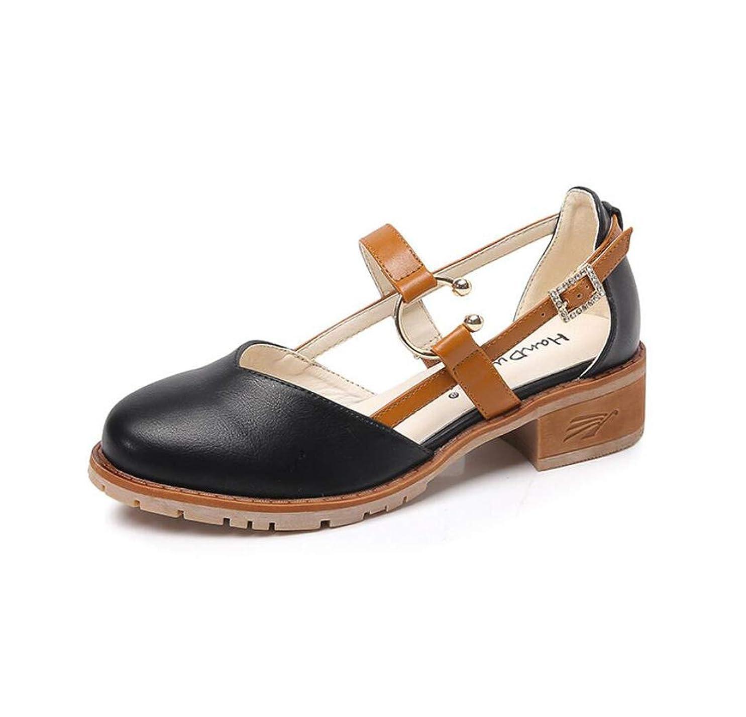 ポスターシート悪性[DANDANJIE] レディースローファーカレッジスタイルヴィンテージ秋の学生Mary Jane Shoes