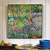 ZHJJD The Iris Garden de Claude Monet Pinturas Monet Lienzo Poster e Impresiones Cuadro de Arte de P...