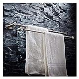 WZBL Badetuchhalter aus Edelstahl 304 Doppelte Handtuchstange (größe : 100cm)