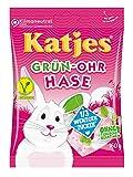Katjes Grün-Ohr Hase mit weniger Zucker – Leckerer Schaumzucker und Fruchtgummi in Häschen-Form – Veggie Bestseller jetzt mit 1/3 weniger Zucker* – Erdbeer, Cassis, Kirsch und Himbeer (1 x 160 g)