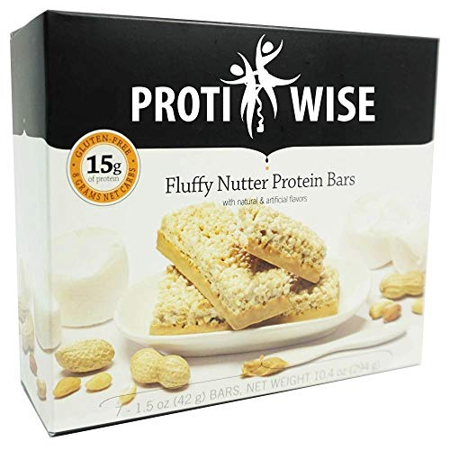 ProtiWise - Fluffy Nutter Protein Bars | 7/Box | Gluten Free, Low...
