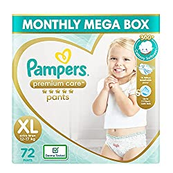 Pampers premium care Pant is one of the reliable brands that manufacture high-quality diapers.It is a best diaper in india.