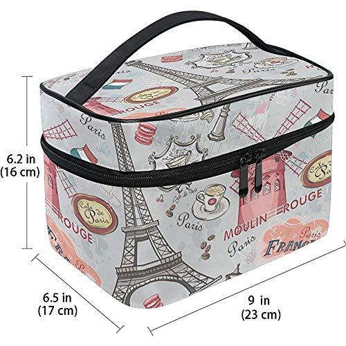 Voyage Cosmétique Sac Français Romantique Paris Tour Eiffel Papillon Voyage Cosmétique Brosse Sac De Stockage Organisateur