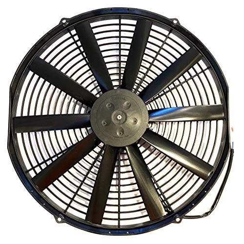 "SPAL 30100400 16"" Puller Fan 12 Volt Low Profile Straight Blade 1074 cfm VA18-AP10/C-41A"
