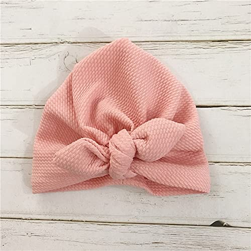 Sombreros de Moda para bebés, niños, bebés, niñas, Sombrero, Turbante, Gorro para la Cabeza-Pink