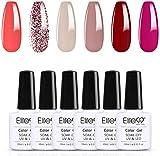 Elite99 Esmaltes de Uñas Semipermanentes, 6 Colores Esmaltes en Gel UV LED, Esmaltes Semipermanentes Soak Off 10ml - Kit 009
