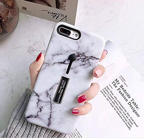 iPhone7 Plus / iPhone8 Plus Case, Opretty Marble Stone Cover Ring Grip Holder Kickstand Finger Circle Strap Stand IMD Ultra Thin Slim Smooth Surface Shell for Apple iPhone 7 Plus/iPhone 8 Plus