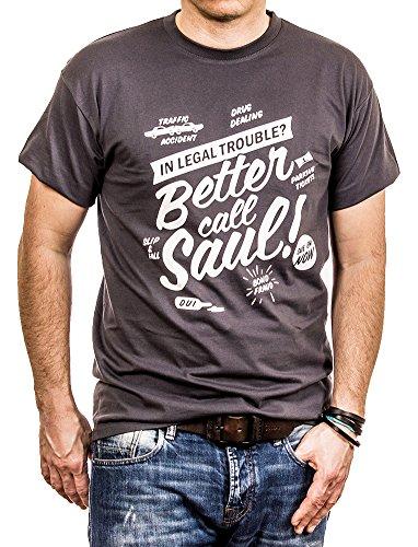 Maglietta Better Call Saul - T-Shirt Breaking Bad Uomo Grigio L