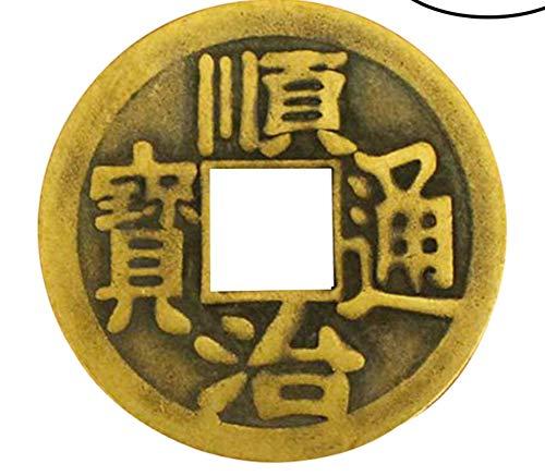 LIOOBO Paquete de 10 Monedas de Fortuna Amuleto Chino Feng Shui Monedas de adivinación i-Ching para Riqueza Prosperidad éxito Buena Suerte