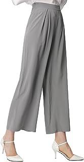 62769978e694a1 LilySilk Seidenhose Pants Locker Hose mit Weitem Bein Freizeithose Damen  Lang aus Seide von 18 Momme