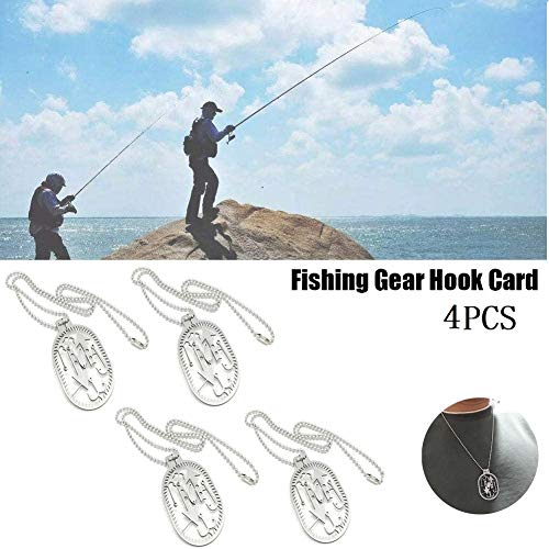 MSYR Angeln Jagdkarte Wilderness Arrow Hook, 5-in-1-Angelausrüstung Hook Card, leichtes Angelgerät Tool, Snare Locks Survival Halskette Tools für Camping oder Wildnis (4pcs)