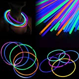 200 Pcs 11'' Glow Sticks Necklaces Pack - Light up Toys Glowsticks Bracelets Assorted Colors In The Dark Light Sticks