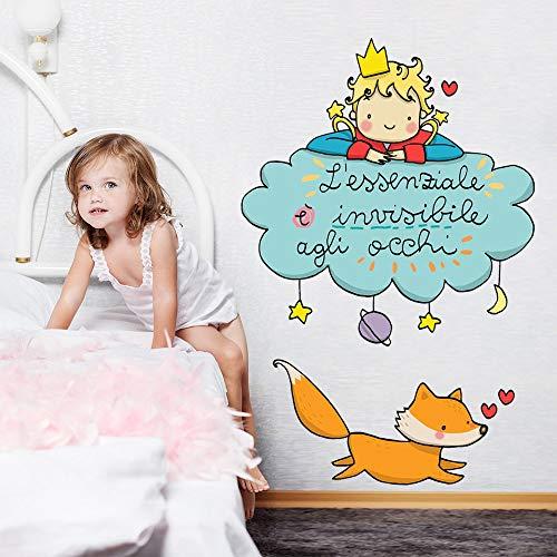 Le Petit Prince sur Le Nuage Art Mural Autocollant – 60 x 76 cm – Décoration Murale, Mural/Papier Peint Autocollant