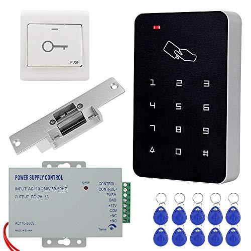 KDL Kit de sistema de control de acceso RFID completo Teclado autónomo...