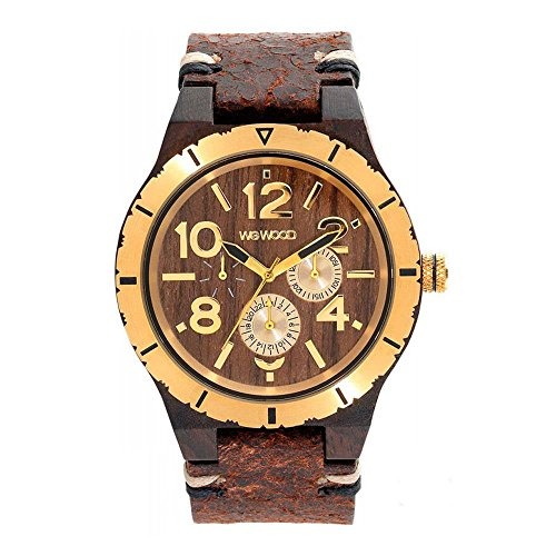 WEWOOD Herren Analog Quarz Smart Watch Armbanduhr mit Leder Armband WW59001