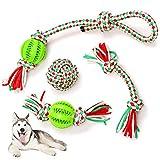 4 Piezas Set Juguetes para Perros Resistentes, Juguetes para Perros Grandes y...