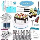 Geisofu Cake Decorating Supplies Set, 220 PCS Professional Reusable...