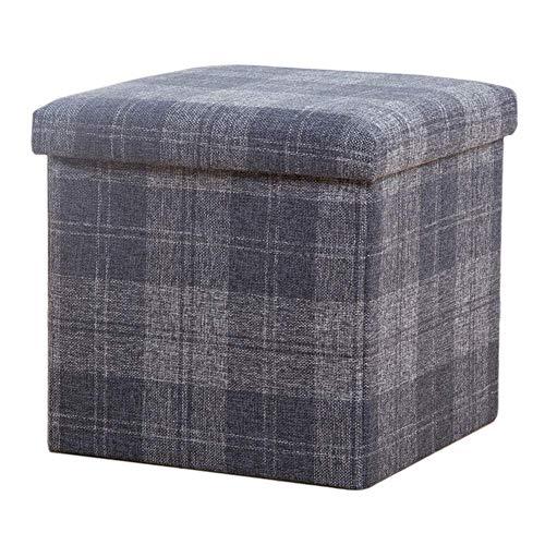Otomana con cuadrado de almacenamiento, taburete plegable para reposapiés, asiento tapizado, cofre de almacenamiento, caja de juguetes, mesas de café para sala de estar-c 38x38x38cm (15x15x15i