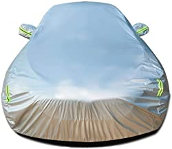 Car Cover Compatible with Volvo V60 T5 Car Cover Waterproof Breathable Thick Sun Protection Rain Tarpaulin Canvas (Color : Sliver)