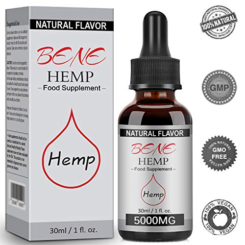 Natural Hemp Oil, High Strength Hemp Seed Oil, Organic Premium Formula, 5000