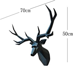 Wandbeeld Home Decor 3D Herten standbeeld Animal Figurine Muurdecoratie Sculptuur 70X50Cm Ornament Bruiloft Decoraties