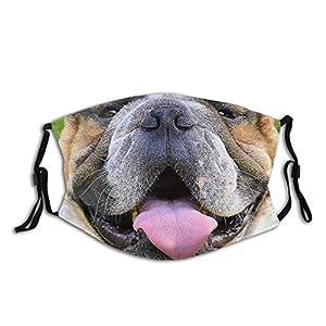 Divertente mascherina per il viso del cane/bocca, riutilizzabile, lavabile, per uomo e donna, con 2 filtri passamontagna