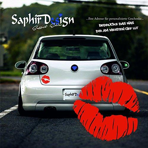 Lippen Kuss Aufkleber - Sehr Coole - Aufkleber - Tuning Autoaufkleber A94 / 8x8cm Hochleistungsfolie in der Farbe Rot
