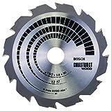 Bosch Lame de Scie Circulaire, 12 HB Dents, 30mm d'Alésage, 2.6mm Largeur de Coupe, 1.6mm Épaisseur du Corps, 190mm Diamètre 2608640633 Grey