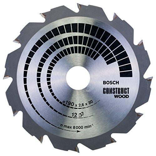 Bosch Professional Kreissägeblatt Construct Wood (Holz, 190 x 30 x 2,6 mm, 12 Zähne, Zubehör Kreissäge)