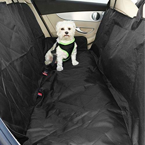 Cubreasientos para perros Yatek + cinturón de seguridad ajustable, hecho de tela oxford 600D de alta resistencia, tamaño 147 x 137 cm, apto para todos los vehículos