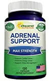 Adrenal Support & Cortisol Manager Supplement (120 Capsules) - Adrenal Health w/Vitamin C Complex Pills to Support Fatigue & Calm Stress Relief - Ashwagandha, L-Tyrosine, Rhodiola & Ginseng