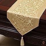 Qinqin666 Tischläufer Sinn für Mode der luxuriösen minimalistischen Stil Tisch Läufer Tischfahne Fahne F 33x150cm