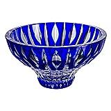 Cristal de Bohemia Denver Centro de Mesa, Cristal, Azul, 26x26x9 cm