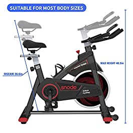 SNODE Indoor Cycling Bike – Stationary Spin Bike, Exer...
