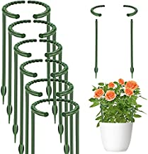 12 Pcs Plant Support Garden Flower Support Stake Half Round Plant Support Ring Plastic Plant Cage Holder Flower Pot Climbing Trellis for Small Plant Flower Vegetable (5.7 x 5.9 inch)