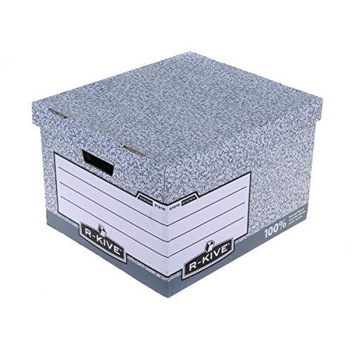 Fellowes Bankers Box System - Caja contenedora de archivos tamaño folio, 10 unidades, color gris