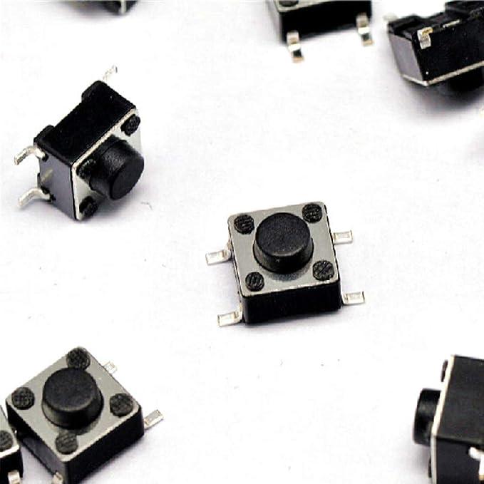 6 x 6 x 5mm Orange  touch switch 4 Pin Mini button 6X6X5 panel key switch
