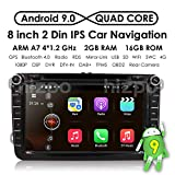 HIZPO 8' Android 8.1 HD Digital Multi-touch Screen 1080P Video Car in Dash DVD Player Custom fit for Volkswagen / Seat / Skoda