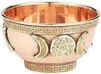 "Triple Moon Pentacle Copper Incense Burner 3"""