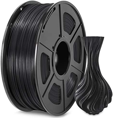3D Printer Filament PETG 1 75 Black PETG Filament 1 75mm Fit FDM 3D Printer 1KG Spool Dimensional product image