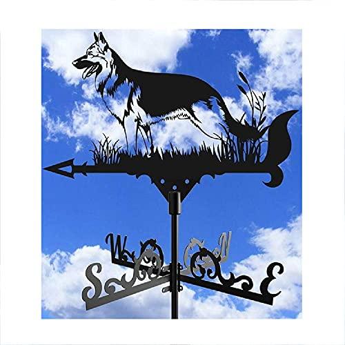 Hollow out weatervane, vindskiva utomhus gräsmattor trädgårdar prydnadstak väder vinge med anti-rost beläggning uteplats yard skulptur, b vindflöjel HAOHANYOUPIN (Color : F)