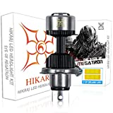 HIKARI Ultra H4 Motorcycle LED Bulb 9003 HB2 HS1 P43t, 14000lm 6500K Prime LED Hi/lo Beam Light Conversion Kit 2 Yr Warranty-1 Pack