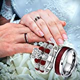 Jieson Vintage Ring for Women Men Simple Retro Style Valentine's Day Engagement Wedding Ring Size 6-12 (Men, 12)