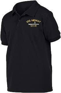USS MIDWAY CV-41 Ship Military Polo Shirt XX-Large