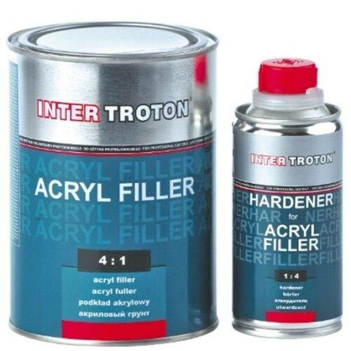 Troton 1L HS Grundierung Schwarz 4:1 2K Acryl Füller Primer Filler + Härter