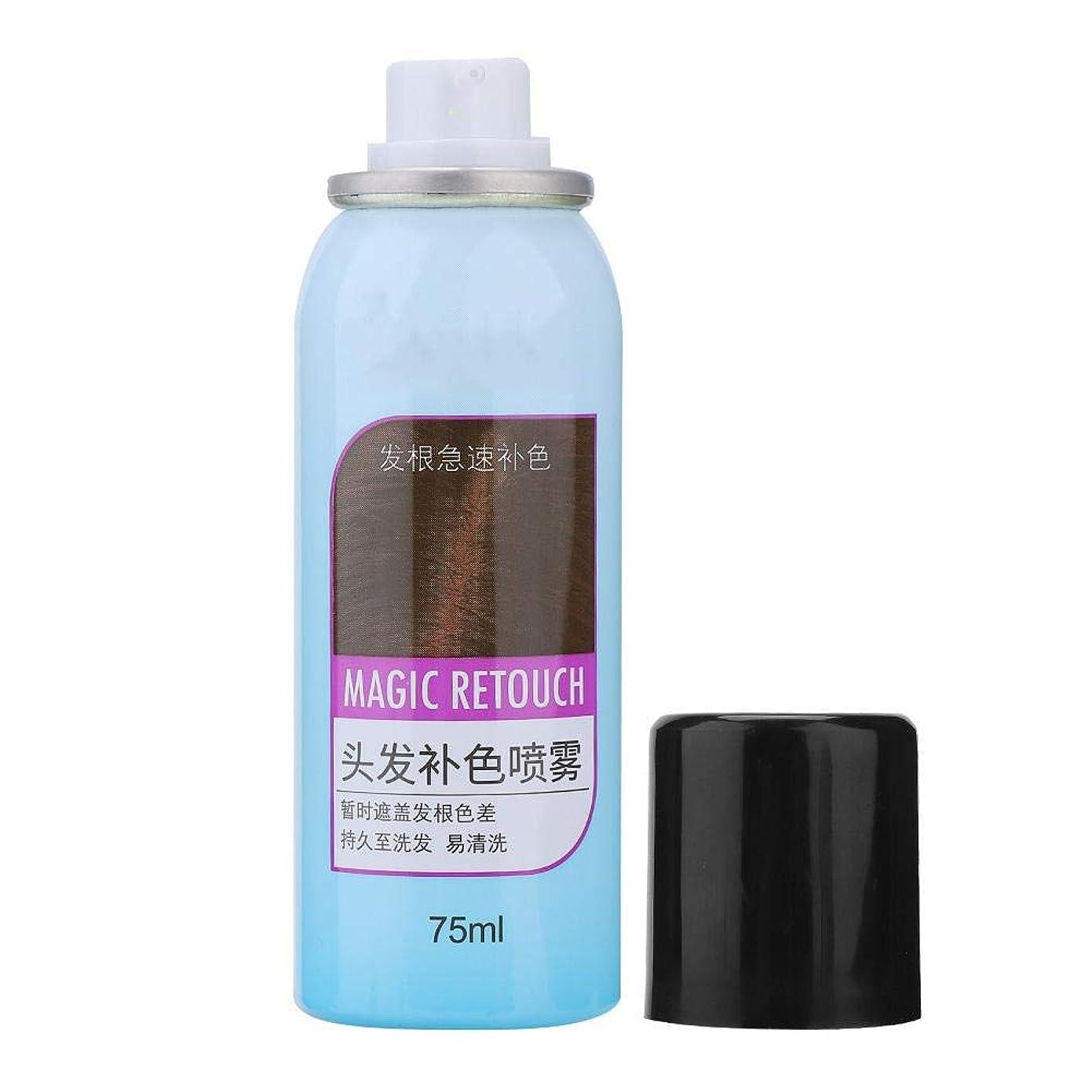 球状テレビ嫉妬染毛剤、3色栄養を与える長続きがする効果ではなく、油性の使い捨て染毛剤カラースプレー75 ML(#3)
