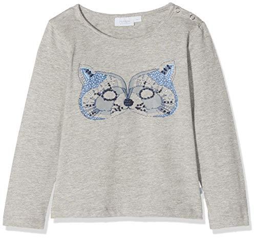 Noa Noa miniature Baby-Jungen Boy Stitch Langarmshirt, Grau (Grey Melange 5), 74 (Herstellergröße: 9M)