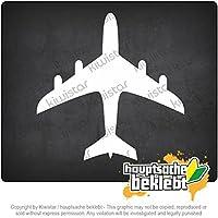 飛行機 plane 11cm x 11cm 15色 - ネオン+クロム! ステッカービニールオートバイ