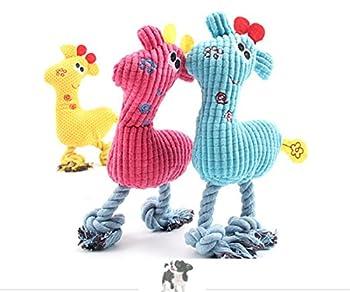 JWPC Lot de 3 jouets couinants en peluche pour chien