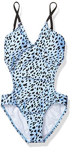 next Mädchen Cutout One Piece Swimsuit Einteiliger Badeanzug, Wild Blue, 44 DE